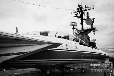 Grumman F14 Tomcat On The Flight Deck Of The Uss Intrepid At The Intrepid Sea Air Space Museum Poster by Joe Fox