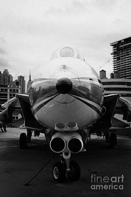 Grumman F14 Tomcat On The Flight Deck Of The Uss Intrepid At The Intrepid Sea Air Space Museum Usa Poster by Joe Fox