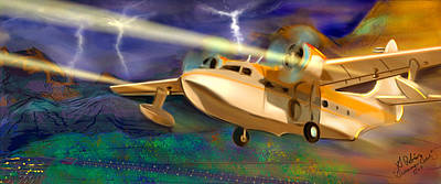 Grumman Goose Poster by Gerry Robins