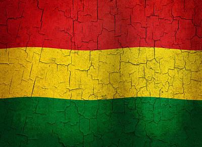 Grunge Bolivia Flag Poster by Steve Ball
