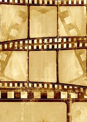 Grunge Filmstrip Composition Poster