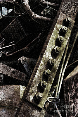 Grunge Industrial Machinery Poster