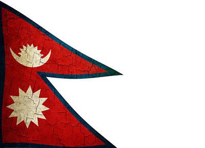 Grunge Nepal Flag Poster by Steve Ball