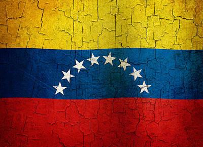 Grunge Venezuela Flag Poster by Steve Ball