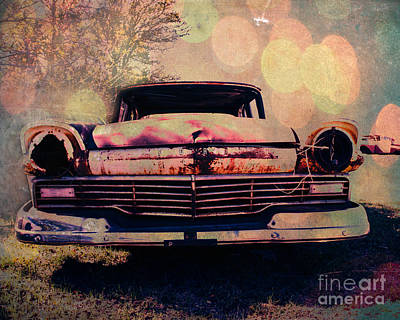 Grungy Ford In The Sun Poster by Sonja Quintero