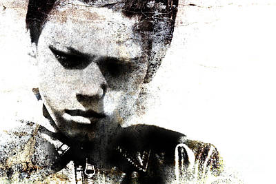 Grungy Portrait Of A Child Poster by Christophe ROLLAND