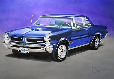 Poster featuring the painting Gto 1965 by Thomas J Herring
