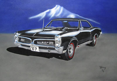 Poster featuring the painting Gto 1967 by Thomas J Herring