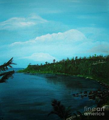 Poster featuring the painting Guam Island Cove by Brigitte Emme
