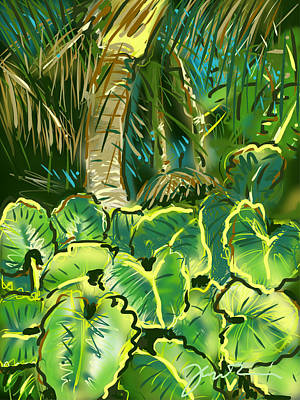 Poster featuring the painting Guanabana Tropical by Jean Pacheco Ravinski
