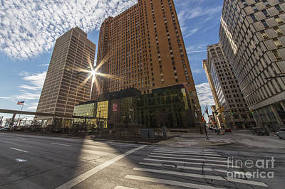 Guardian And One Woodward Avenue Buildings Poster by Twenty Two North Photography