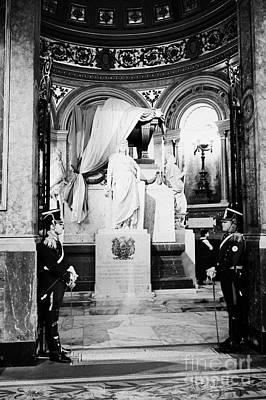 guards at the mausoleum of general san martin inside catedral metropolitana de Buenos Aires metropol Poster