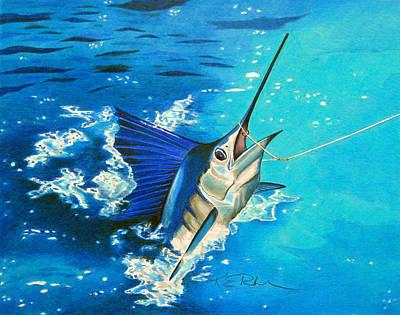 Guatemalan Sailfish Poster by Karen Rhodes
