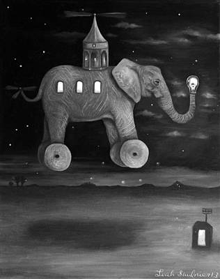 Guiding Lights Bw Poster by Leah Saulnier The Painting Maniac