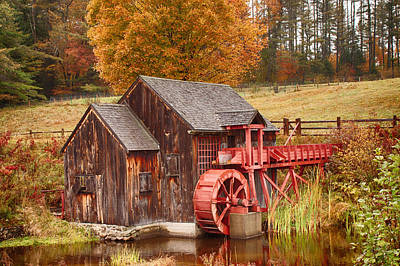 Poster featuring the photograph Guildhall Grist Mill by Jeff Folger