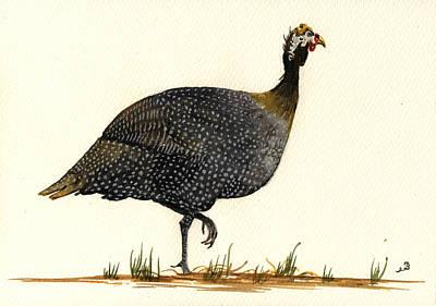 Guinea Fowl Poster by Juan  Bosco