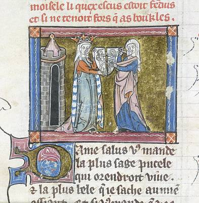Guinevere With The Cleft Shield Poster