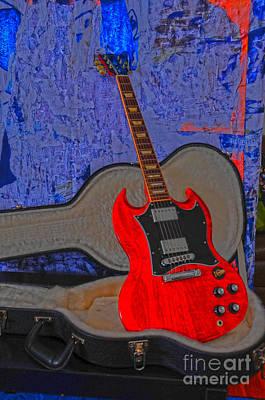 Poster featuring the photograph Guitar Art by Randi Grace Nilsberg