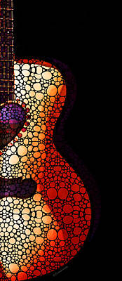 Guitar Art - She Waits Poster by Sharon Cummings