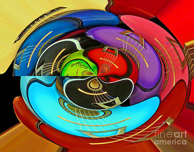 Poster featuring the photograph Guitar Circle by Cheryl Del Toro