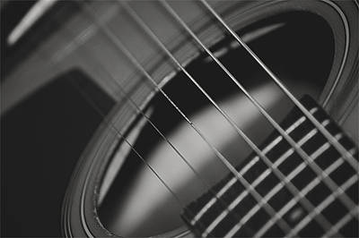 Poster featuring the photograph Guitar Detail by Michael Donahue