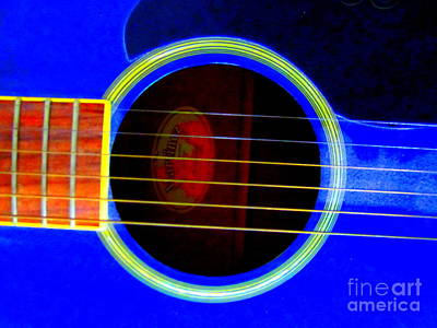 Guitar Hole And Strings Poster by Roberto Gagliardi