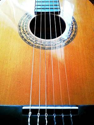 Guitar In The Light Poster by Isabella F Abbie Shores FRSA