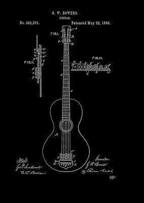 Guitar Patent 1888 Poster