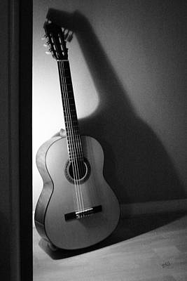 Guitar Still Life In Black And White Poster