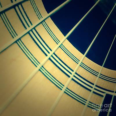 Guitar Strings Poster by Diane Macdonald