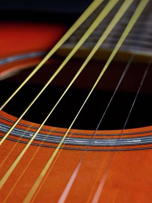 Guitar Strings Poster by Science Photo Library