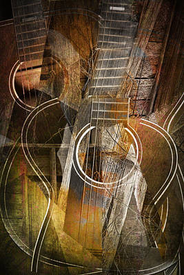 Guitar Works Poster by Randall Nyhof