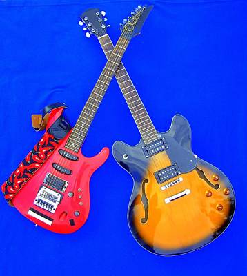 Double Heaven - Guitars At Rest Poster