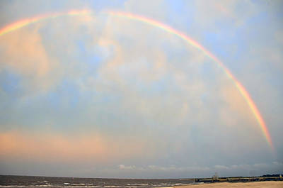 Poster featuring the photograph Gulf Coast Rainbow by Charlotte Schafer