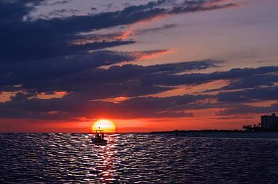 Gulf Coast Sunset Poster by Laura Fasulo