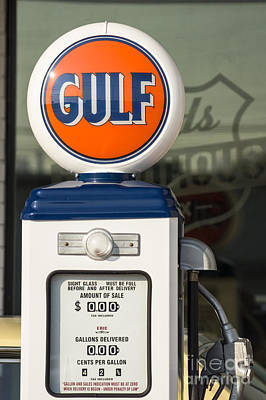 Gulf Oil Gas Pump Poster