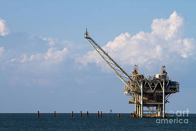 Poster featuring the photograph Gulf Oil Rig by Steven Frame