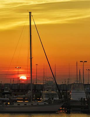 Gulfport Harbor Poster