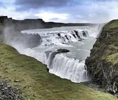 Gullfoss Falls Sw Iceland Poster by John Potts