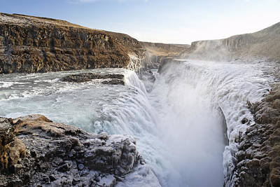 Gullfoss Iceland Poster by Francesco Emanuele Carucci