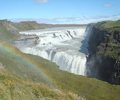 Gullfoss Waterfall Poster by Kay Gilley