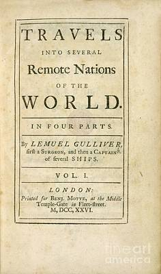 Gulliver's Travels (1726) Poster by British Library
