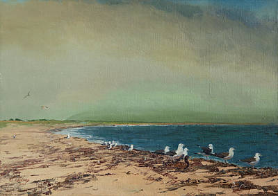 Gulls On The Seashore Poster