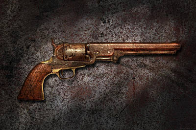 Gun - Colt Model 1851 - 36 Caliber Revolver Poster by Mike Savad