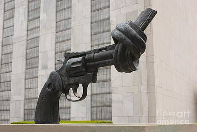 Gun Sculpture, United Nations, Nyc Poster