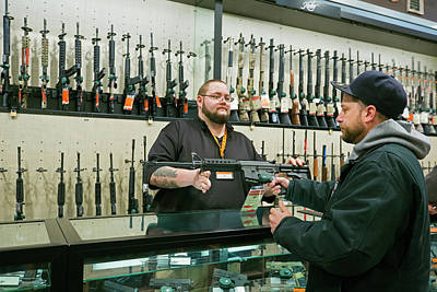 Gun Store Poster by Jim West
