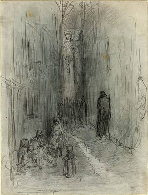 Gustave Doré French, 1832 - 1883, A Backstreet In London Poster