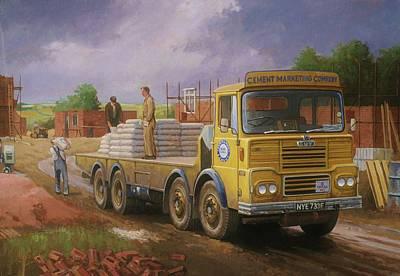 Guy Big J Eightwheeler. Poster by Mike  Jeffries