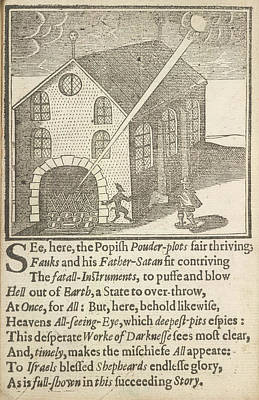 Guy Fawkes And Satan Poster by British Library