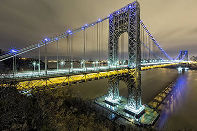 Gwb In Blue Poster by Mike Orso